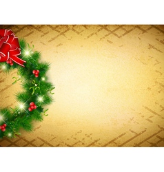 Vintage Christmas and New Year vector image vector image
