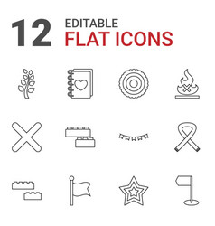 12 banner icons vector