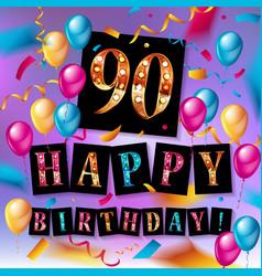 90th years anniversary celebration design vector image
