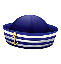 A blue hat with an anchor vector image