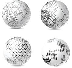 Abstract tech spheres vector
