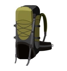 Backpack for travel icon cartoon style vector image