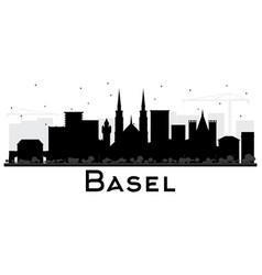 Basel switzerland city skyline silhouette vector