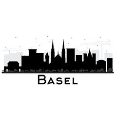 Basel switzerland city skyline silhouette with vector