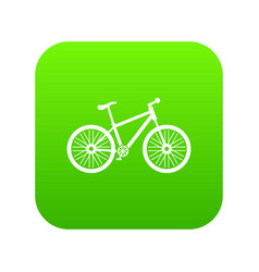 Bicycle icon green vector