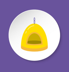 Bird nest house icon in flat style vector