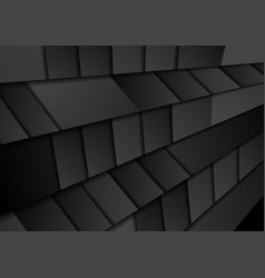 black abstract geometric hi-tech background vector image