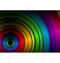 black rainbow vector image