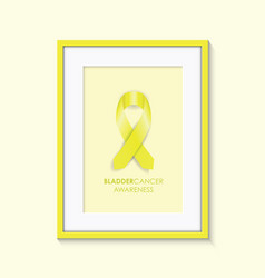 Bladder cancer awareness frame vector