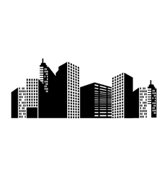 Building structure silhouette vector
