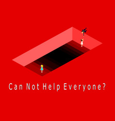 can not help everyone conceptbusinessman t vector image
