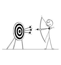 Cartoon successful man or businessman shooting vector