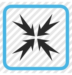 Compression Arrows Icon In a Frame vector