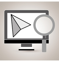 computer search icon vector image