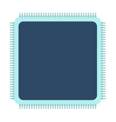 Cpu icon flat vector