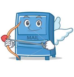 cupid mailbox character cartoon style vector image