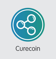Curecoin digital currency cure coin vector