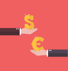 currency exchange euro and dollar vector image