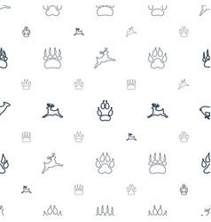 Deer icons pattern seamless white background vector