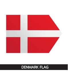 Denmark flag design vector