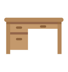 desk flat icon furniture and interior vector image
