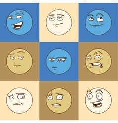 Emotional faces vector