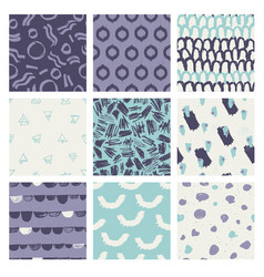 Fashionable seamless pattern design collection vector