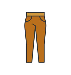 Female trouser filled color outline editable vector