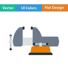 Flat design icon of vise vector