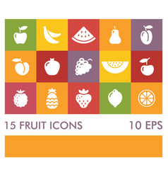 flat icons different fruits vector image