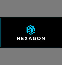 fr hexagon logo design inspiration vector image