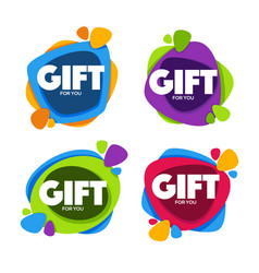 Gift for you collection of bright congratulation vector