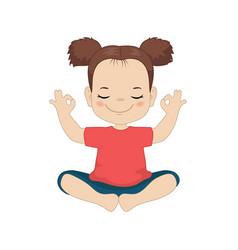 girl doing yoga girl doing yoga vector image