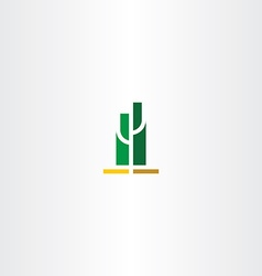 Green cactus logo sign vector
