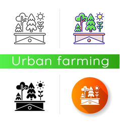 green roof icon vector image