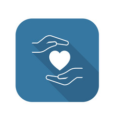 Heart disease prevention icon flat design vector