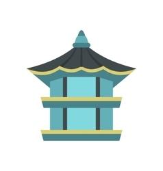 Hexagonal pavilion South Korea icon vector