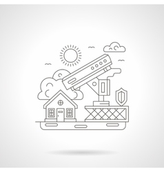 House security detailed line vector image