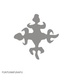Icon with adinkra symbol funtunmfunafu vector