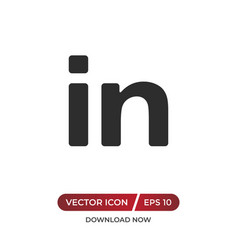 In sign icon vector