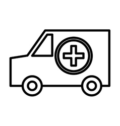 isolated ambulance car graphic vector image