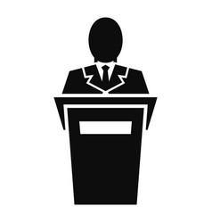 Leader speech icon simple style vector