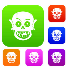 living dead set color collection vector image