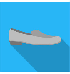 Loafers icon in flat style isolated on white vector