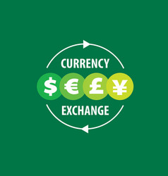 Logo currency exchange vector
