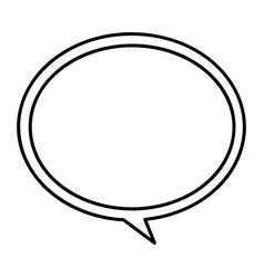 Monochrome contour with speech bubble vector
