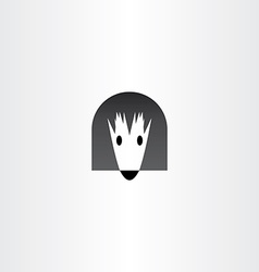 Mousehole mouse home logo icon vector