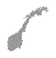 norway map abstract schematic from black ones and vector image