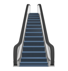 One escalator mockup realistic style vector