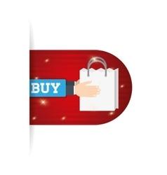 Online buy bag gift present vector